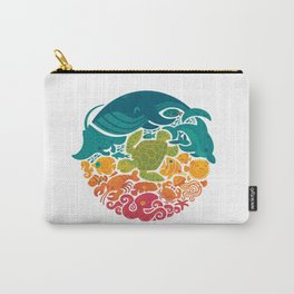 Aquatic Rainbow (white) Carry-All Pouch