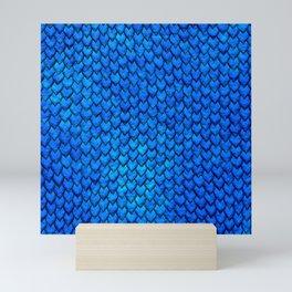 Mermaid Scales - Blue Mini Art Print