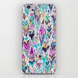 Abstract Colorful Feathers iPhone Skin