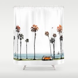 LA love  Shower Curtain