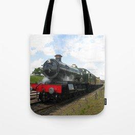 Vintage steam engine railway train Tote Bag