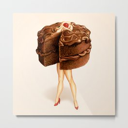 Cake Girl - Chocolate Metal Print