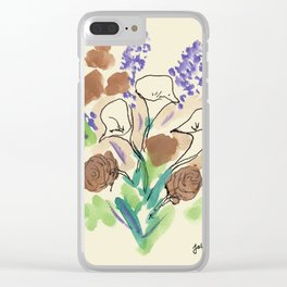 Bouquet of Calla Lillies by John E. Clear iPhone Case