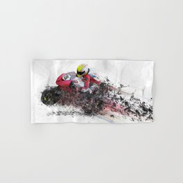 High Speed Motorcycle Racer Hand & Bath Towel