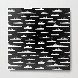 Battleship // Black Metal Print