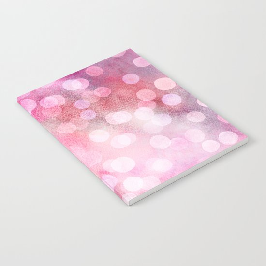 Strawberry Sunday - Pink Abstract Watercolor Dots Notebook