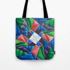 Square Pinwheel Tote Bag