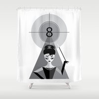 audrey Shower Curtains featuring Audrey by Love Ashley Designs