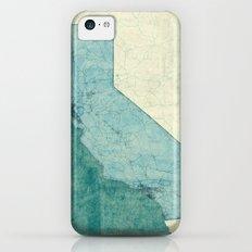 California State Map Blue Vintage iPhone 5c Slim Case