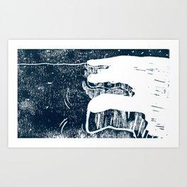 90º N Art Print