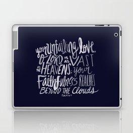 Psalm 36: 5 x Navy Laptop & iPad Skin