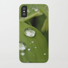 Green Leaves After Rain Slim Case iPhone X