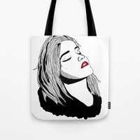 sky ferreira Tote Bags featuring Sky Ferreira by BUGS