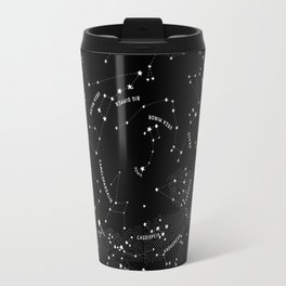 Constellation Map - Black Travel Mug