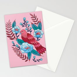 Technicolor birds of a feather Stationery Cards
