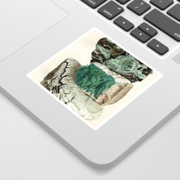 Vintage Mineralogy Illustration Sticker