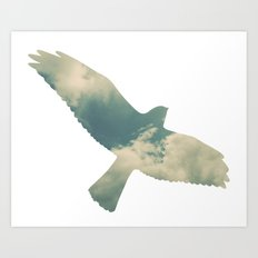 Cloud Bird Art Print