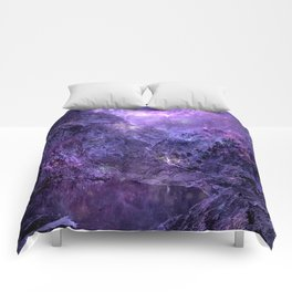Space Mountains Comforters