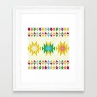 folk Framed Art Prints featuring Folk by MihaMiha