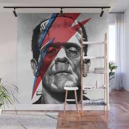 Frankenstein's Monster X Bowie, based on my original hand-drawn graphite illustration Wall Mural