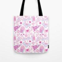girl power Tote Bags featuring Girl Power by Jade Boylan