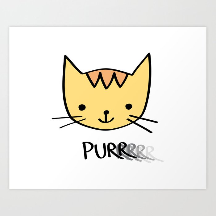 Purrrrrrring with Thunder the Kitten Art Print