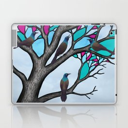 grackles in the stained glass tree Laptop & iPad Skin