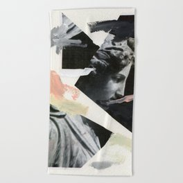 Untitled (Painted Composition 3) Beach Towel