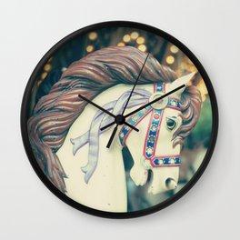 Pastel Horse I Wall Clock