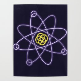 Gold and Silver Atomic Structure Poster