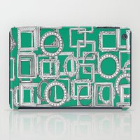 frames iPad Cases featuring picture frames aplenty green by Sharon Turner