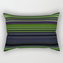 Apple Grape Rag Weave by Chris Sparks Rectangular Pillow