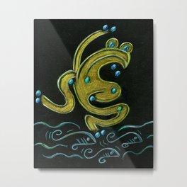 Golden tree frog (Coqui dorado) Metal Print