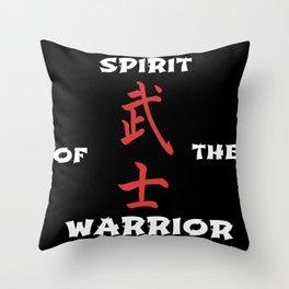 Spirit of the warrior Throw Pillow