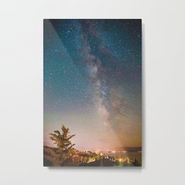 Tahoe Milky Way Colorpop Metal Print