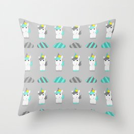 Yon the Unicorn - Light Throw Pillow