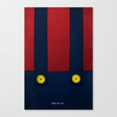Video Game Poster: Plumber Canvas Print