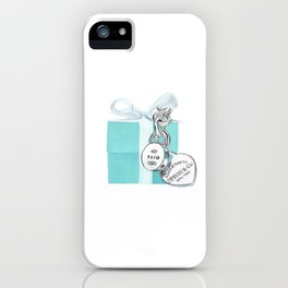 Blue Jewellry Box iPhone Case