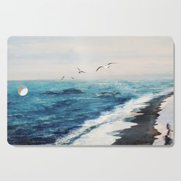 Watercolor Coast Cutting Board