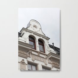 Old house facade Metal Print