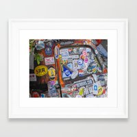 stickers Framed Art Prints featuring Stickers by Glenn Designs