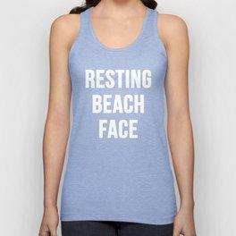 Resting Beach Face Unisex Tank Top