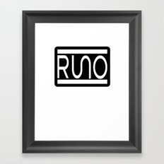 RUNO Bordered Design Framed Art Print
