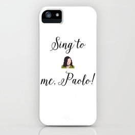 SING TO ME, PAOLO! Lizzie McGuire iPhone Case