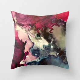 Dark Inks - Alcohol Ink Painting Throw Pillow