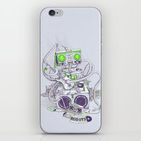 hippy iPhone & iPod Skins featuring Hippy robot by Mathijs Vissers