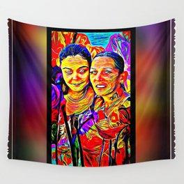 Friends 01: Cyndi & Candy 02 Wall Tapestry