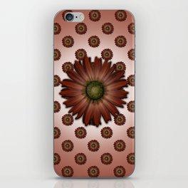 """Big Red Daisy, (pattern)"" iPhone Skin"