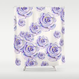 Puple Rose Painting Shower Curtain
