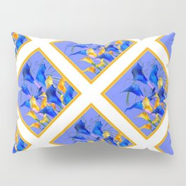 PATTERNED MODERN ABSTRACT BLUE & GOLD CALLA LILIES Pillow Sham